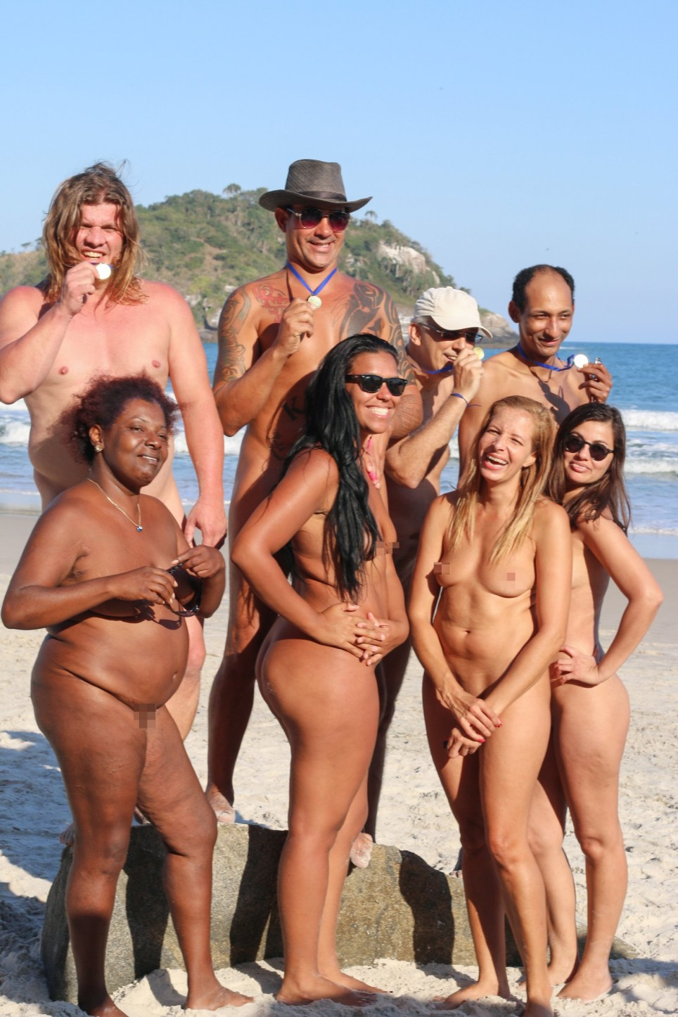 Naked family nudist games