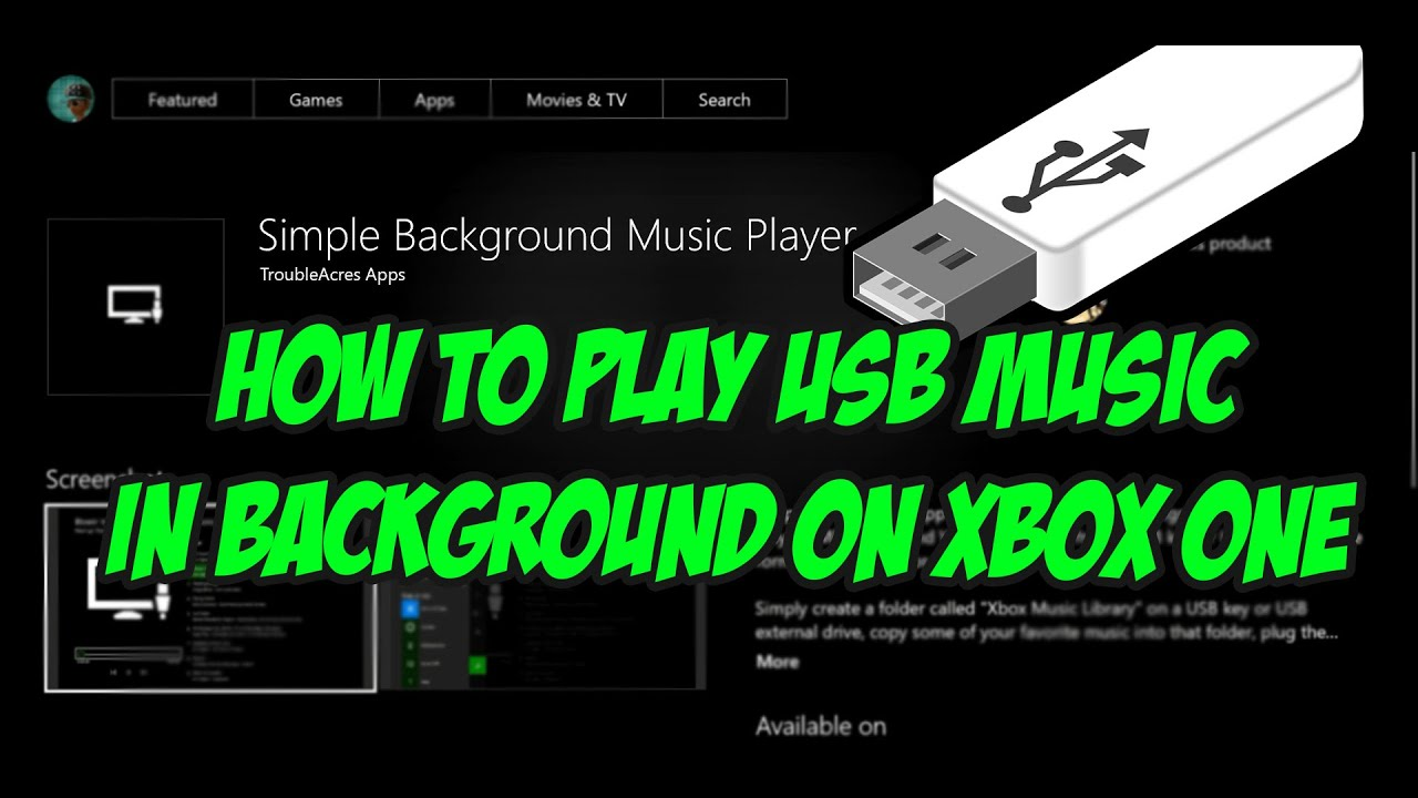 Can you play music in the background on xbox one